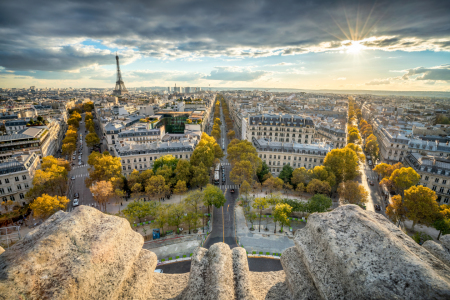 Picture no: 12423325 Paris Skyline im Herbst Created by: eyetronic