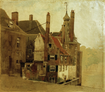 Picture no: 30000000 Andreas Aschenbach, Houses in The Hague Created by: Achenbach, Andreas
