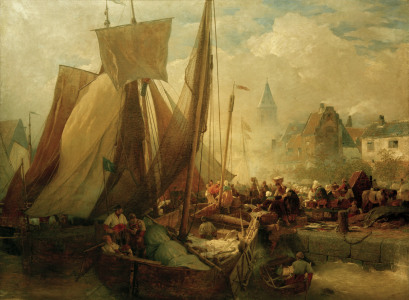 Picture no: 30000002 A. Achenbach, Fischmarkt in Ostende,1876 Created by: Achenbach, Andreas
