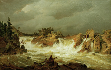 Picture no: 30000004 Andreas Achenbach / Trollhättanfälle. Created by: Achenbach, Andreas