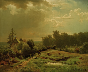Picture no: 30000014 A.Achenbach, hügelige Landschaft...,1852 Created by: Achenbach, Andreas