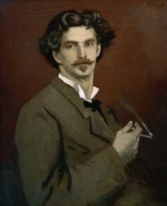 Picture no: 30000100 Anselm Feuerbach / Self-portrait / 1878 Created by: Feuerbach, Anselm