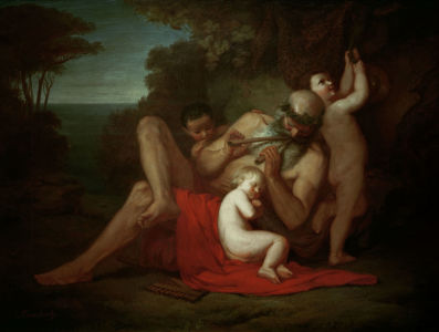 Picture no: 30000122 A.Feuerbach, Silenus with Young Bacchus Created by: Feuerbach, Anselm