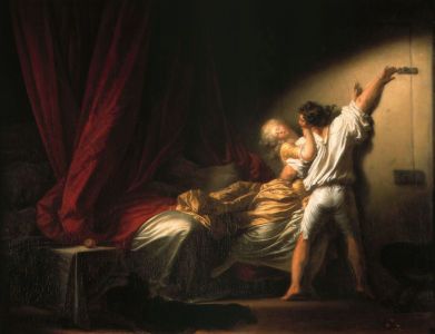 Picture no: 30000226 Fragonard / The Bolt / c. 1777 Created by: Fragonard, Jean-Honoré