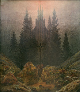 Picture no: 30000258 Friedrich/Cross in the mountains/c.1812 Created by: Friedrich, Caspar David