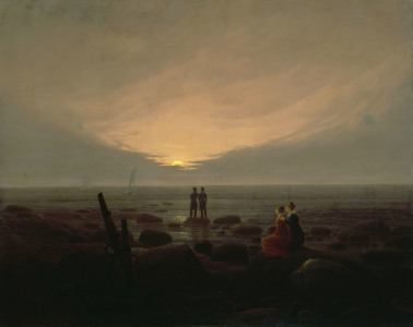 Picture no: 30000284 C.D.Friedrich / Moonrise by the Sea Created by: Friedrich, Caspar David
