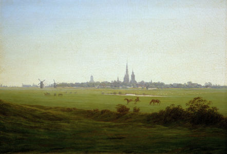 Picture no: 30000300 Friedrich/Meadows near Greifswald/c.1815 Created by: Friedrich, Caspar David