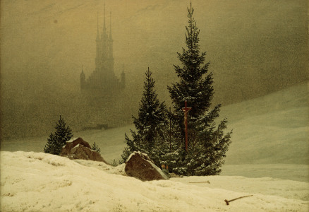 Picture no: 30000320 C.D.Friedrich, Winterlandschaft m.Kirche Created by: Friedrich, Caspar David