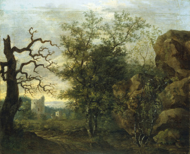 Picture no: 30000336 Friedrich/Landscape with bare tree/c1798 Created by: Friedrich, Caspar David