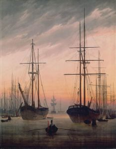 Picture no: 30000342 Friedrich / View of a harbour / c.1815 Created by: Friedrich, Caspar David