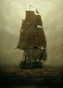 Picture no: 30000350 Friedrich/Sailing ship in the fog/c.1815 Created by: Friedrich, Caspar David