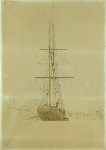 Picture no: 30000358 Friedrich /Study of a two-master /c.1815 Created by: Friedrich, Caspar David