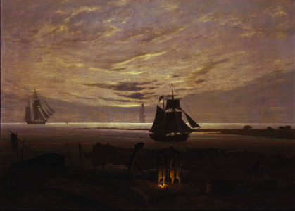 Picture no: 30000370 Friedrich/Evening at the Baltic Sea/1831 Created by: Friedrich, Caspar David