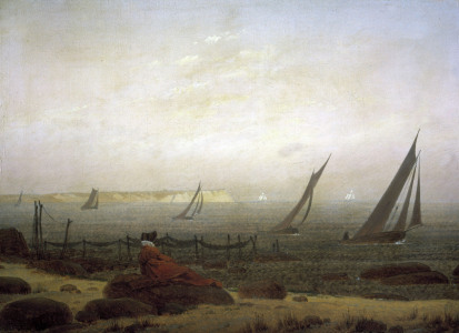 Picture no: 30000378 Friedrich / Woman at the sea / c.1818 Created by: Friedrich, Caspar David