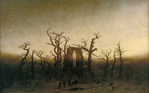 Picture no: 30000390 C.D.Friedrich, Abtei im Eichwald Created by: Friedrich, Caspar David