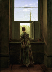 Picture no: 30000396 Friedrich / Woman at the window / 1822 Created by: Friedrich, Caspar David