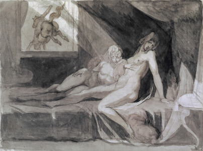 Picture no: 30000486 Füssli / The Nightmare / Watercolour Created by: Füssli, Johann Heinrich d.J.