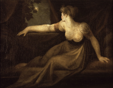 Picture no: 30000502 Fuseli / Lady at the Window, Moonlight Created by: Füssli, Johann Heinrich d.J.