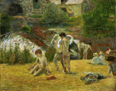 Picture no: 30000516 P.Gauguin / Young Bretons in the Bath Created by: Gauguin, Paul