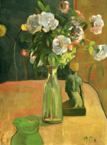 Picture no: 30000528 P. Gauguin / Roses and Statuette / 1890 Created by: Gauguin, Paul