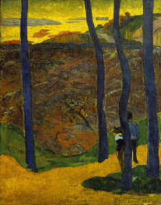 Picture no: 30000546 Gauguin / Blue Trees / 1888 Created by: Gauguin, Paul