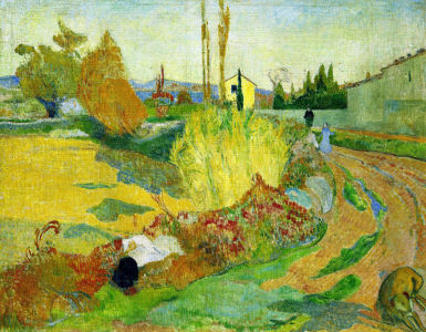 Picture no: 30000550 Gauguin / Landscape near Arles Created by: Gauguin, Paul