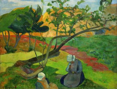 Picture no: 30000556 Gauguin / Landscape with Breton Women Created by: Gauguin, Paul