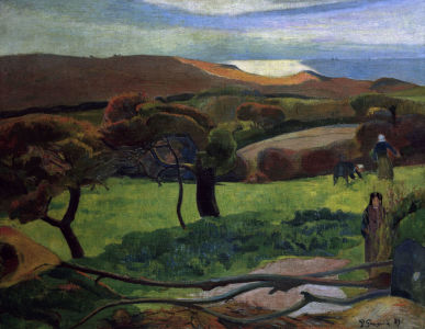 Picture no: 30000558 Gauguin / Landscape in Brittany / 1889 Created by: Gauguin, Paul