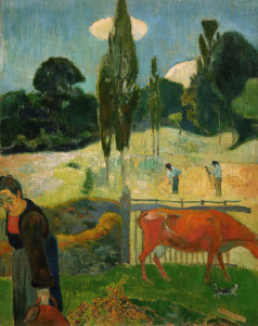 Picture no: 30000586 Gauguin / The red cow / 1889 Created by: Gauguin, Paul