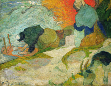 Picture no: 30000590 P.Gauguin,Wäscherinnen am Roubine-du-Roi Created by: Gauguin, Paul