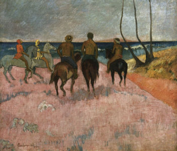 Picture no: 30000650 Gauguin / Rider at the beach / 1902 Created by: Gauguin, Paul
