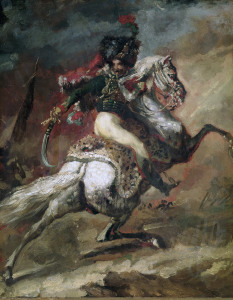 Picture no: 30000698 Gericault / Mounted Officer / Painting Created by: Géricault, Théodore