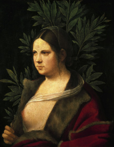 Picture no: 30000728 Petrarca - Laura/Paint.by Giorgione/1506 Created by: Giorgione (Giorgio da Castelfranco | Barbarelli)
