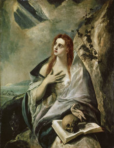 Picture no: 30000848 El Greco / Magdalene doing Penance Created by: Greco, El (Domenikos Theotokopoulos)