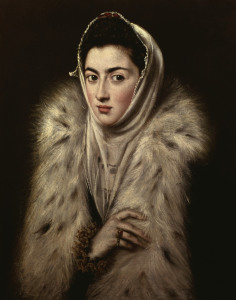 Picture no: 30000884 El Greco / Lady with a Fur Created by: Greco, El (Domenikos Theotokopoulos)