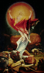 Picture no: 30000950 Grünewald, Isenheim Alt. Resurrection Created by: Grünewald, Mathis Gothart