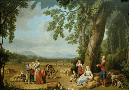 Picture no: 30000952 Ferdinand IV.u.Familie bei Ernte/Hackert Created by: Hackert, Philipp