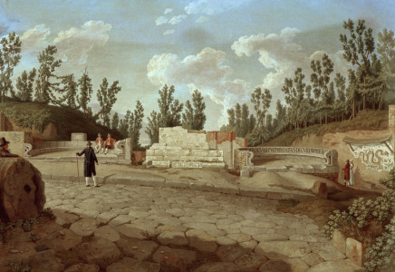 Picture no: 30000976 Pompeii, Road of tombs / Hackert Created by: Hackert, Philipp