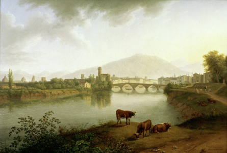 Picture no: 30000980 Pisa / View / Painting by Hackert Created by: Hackert, Philipp
