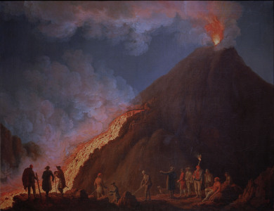 Picture no: 30000990 Vesuvius / Eruption / 1774 / Hackert Created by: Hackert, Philipp