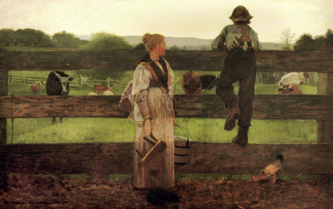 Picture no: 30001044 Winslow Homer, Milking Time Created by: Homer, Winslow