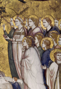 Picture no: 30001076 Giotto/ Angel and Virtues/ Fresco c.1320 Created by: Giotto di Bondone