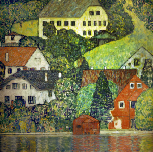 Picture no: 30001212 Gustav Klimt / Houses in Unterach / 1916 Created by: Klimt, Gustav