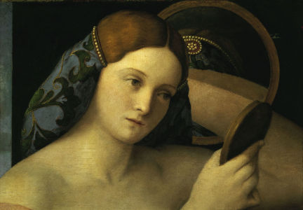 Picture no: 30001286 Giov.Bellini, Young woman at her toilet Created by: Bellini, Giovanni