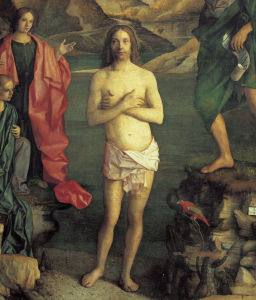 Picture no: 30001316 Giov.Bellini, Baptism of Jesus / Detail Created by: Bellini, Giovanni