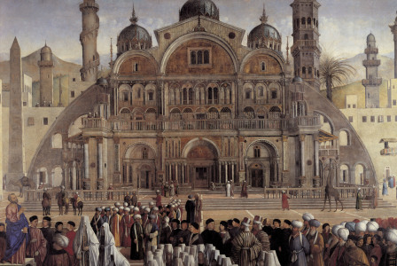 Picture no: 30001340 G.Bellini /Sermon of St.Mark, Detail Created by: Bellini, Giovanni