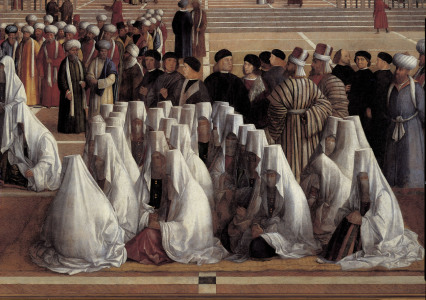 Picture no: 30001342 G.Bellini /Sermon of St.Mark, Detail Created by: Bellini, Giovanni