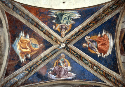 Picture no: 30001468 D.Ghirlandaio / Four Sibyls /Fresco/ C15 Created by: Ghirlandaio Domenico (Domenico Tommaso Bigordi)