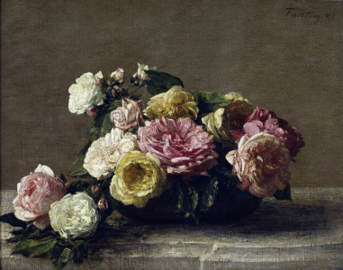 Picture no: 30001504 H.Fantin-Latour / Roses in a Bowl / 1882 Created by: Fantin-Latour, Henri