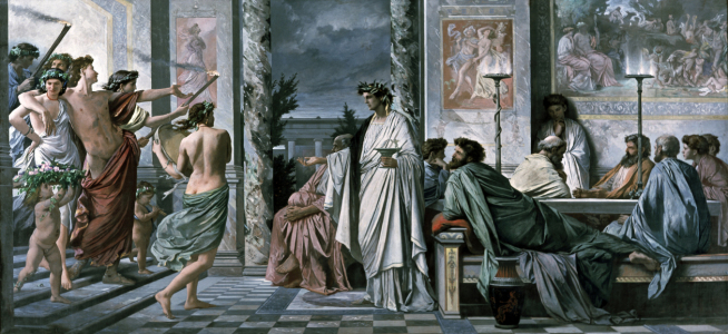Picture no: 30001512 Plato's Banquet /Paint./Feuerbach/ 1869 Created by: Feuerbach, Anselm